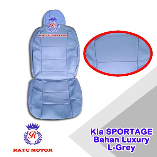 Sarung Jok KIA SPORTAGE 2 Bahan Luxury LightGrey (Jok Tengah Kepala Cabut)