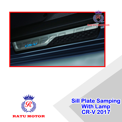 Sill Plate Samping All New CRV 2017-2019 Turbo Stainless kombinasi + Lamp