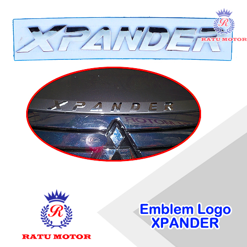 Emblem Logo XPANDER untuk Kap Mesin Chrome