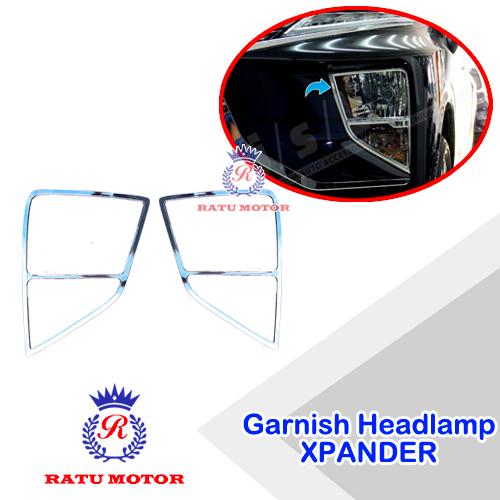 Garnish Headlamp XPANDER 2017-2018 Chrome