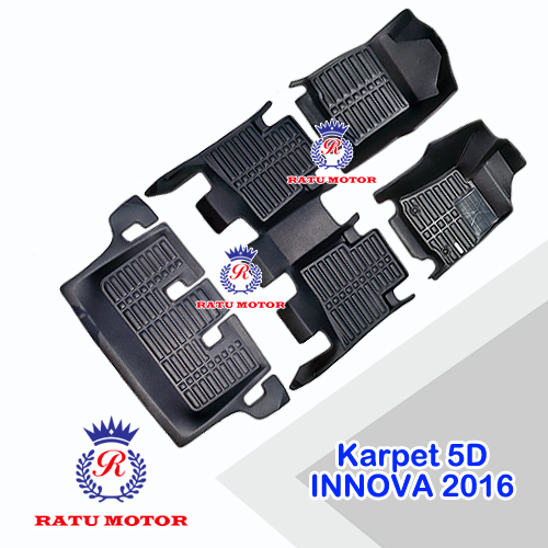 Karpet 5D (5 Dimensi) All New INNOVA 2016-2018 (4 Pcs) Tanpa Bagasi