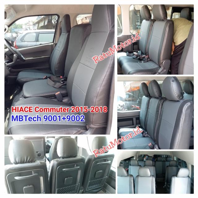 Sarung Jok HIACE Commuter 2015-2018 5 Baris (16 Seats) Bahan MBTech