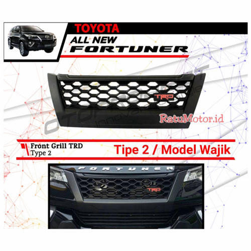 Grill Depan All New FORTUNER 2016-2018 TRD Model Wajik (Tipe 2)