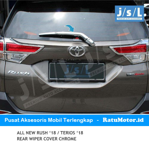 Cover Wiper Belakang All New RUSH 2018-2019 Chrome