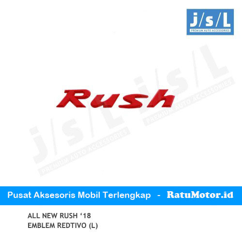 Emblem Tulisan RUSH All New RUSH 2018-2019 Redtivo (Large)
