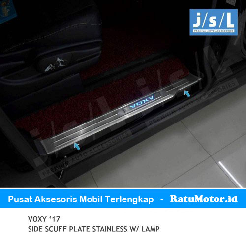 Sill Plate Samping VOXY 2017 Stainless + Lamp