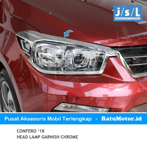 Garnish Headlamp Wuling CONFERO 2018 Chrome