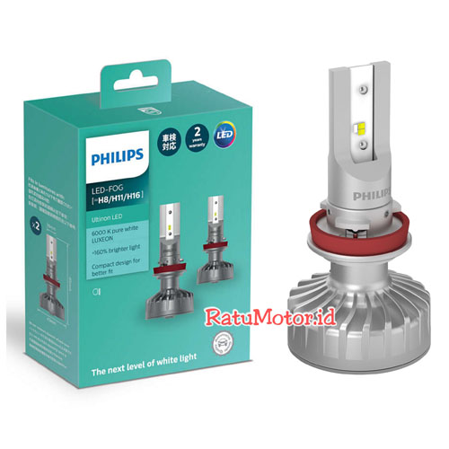 PHILIPS Ultinon LED H8/H11/H16 / 6000K 12V 10Watt