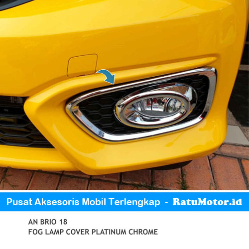 Ring / Cover Foglamp Besar BRIO 2019-Up Model Platinum Chrome