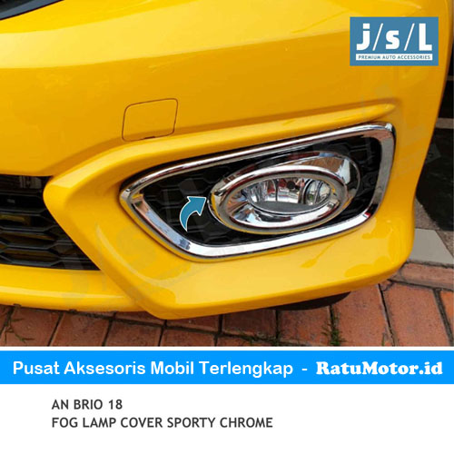 Ring / Cover Foglamp Kecil BRIO 2019-Up Model Sporty Chrome