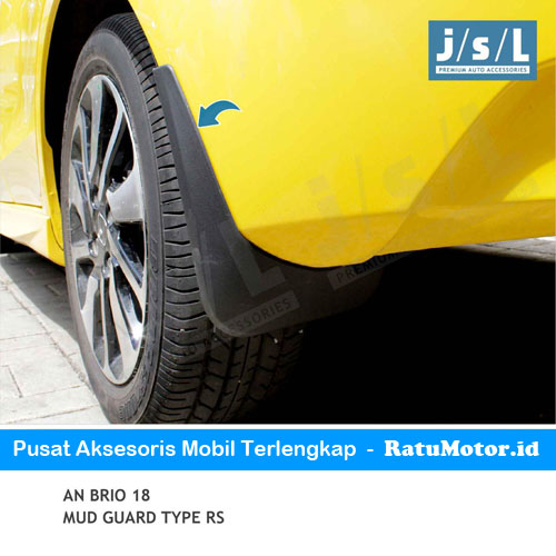 Mud Guard (Karpet Roda) BRIO 2019-Up Tipe RS Karet Hitam