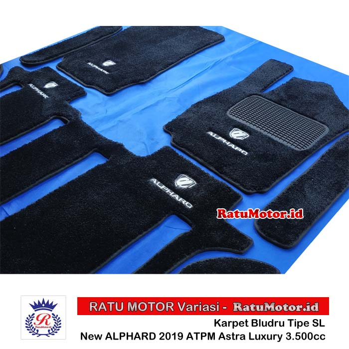 Karpet Bludru tipe SL All New ALPHARD 2019-2020 ATPM Astra Luxury 3.500cc Full Set + LOGO