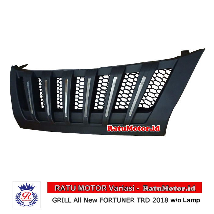 GRILL All New FORTUNER 2016-2019 Model Prado Hitam Doff + List Chrome