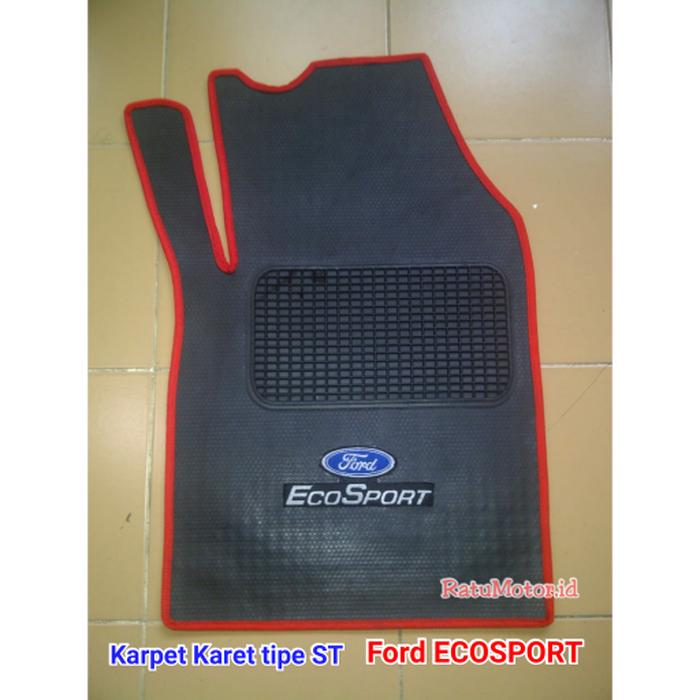 Karpet Karet tipe ST Ford ECOSPORT w/o Bagasi + LOGO