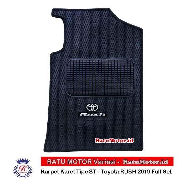 Karpet Karet tipe ST Toyota RUSH 2018-2019 Full Set + Logo