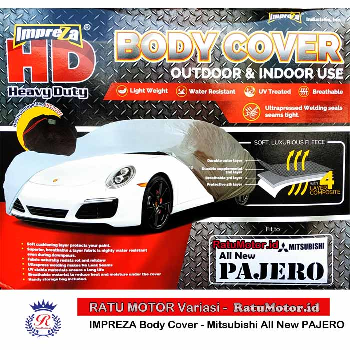 Body Cover IMPREZA HD For PAJERO Sport 2016-2018 WaterProof 4 Layers