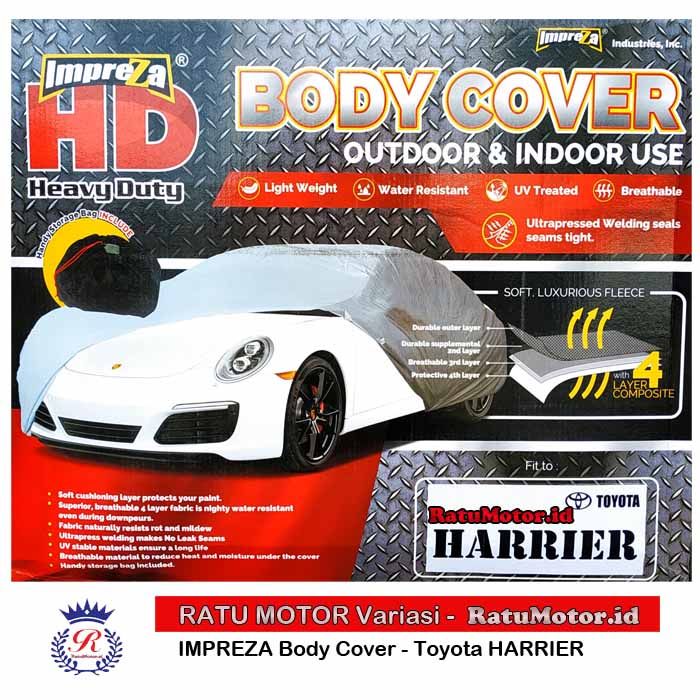 Body Cover IMPREZA HD For HARRIER Waterproof 4 Layers