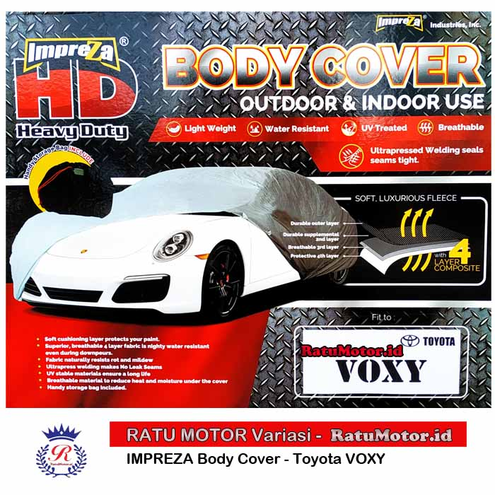 Body Cover IMPREZA HD for VOXY 2017-2018 WaterProof 4 Layers