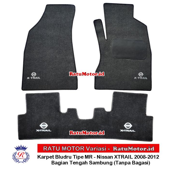 Karpet Bludru Tipe MR XTRAIL T31 2008-2013 Kabin saja + LOGO (Sambung)