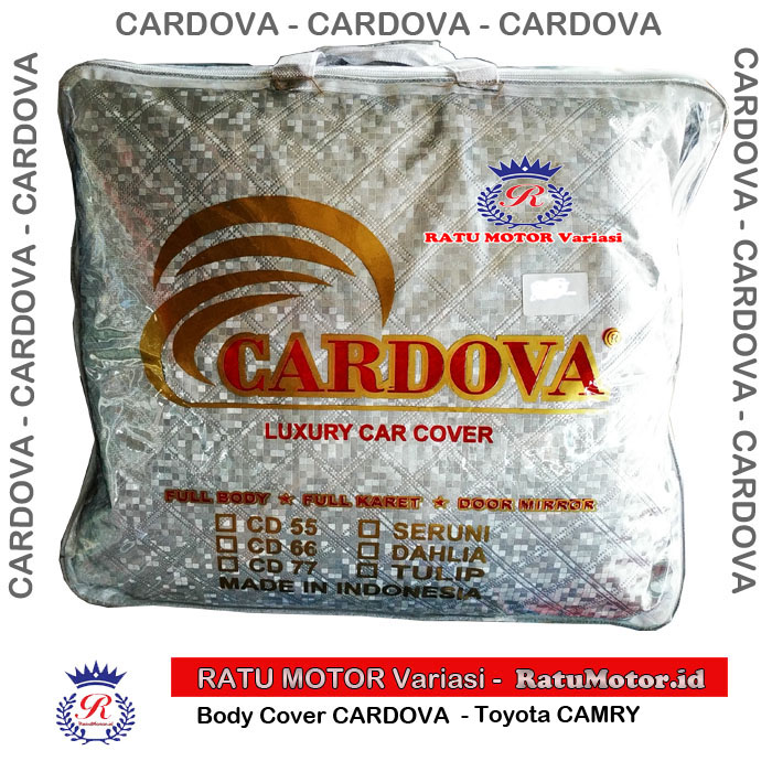 CARDOVA Body Cover CAMRY 2018 (Plus Spion) Cordova