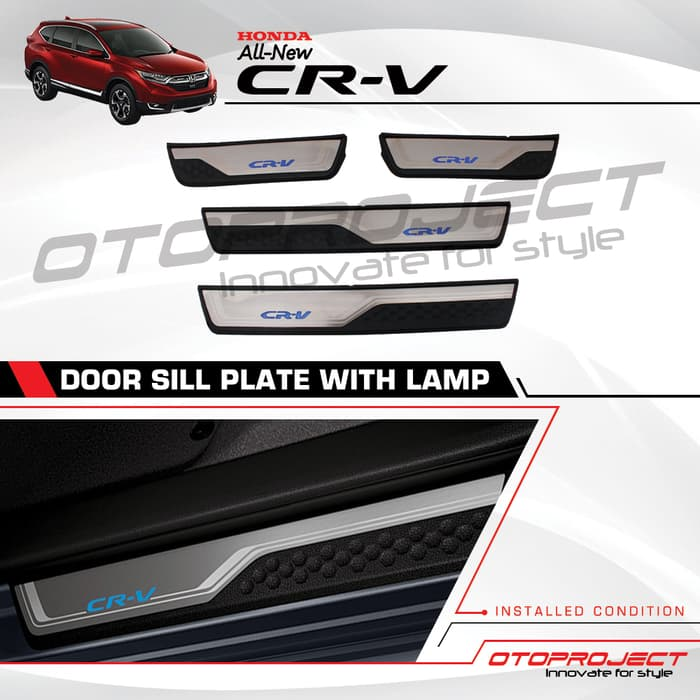 Door SILLPLATE Samping CRV Turbo 2018 Model ORI + Lamp