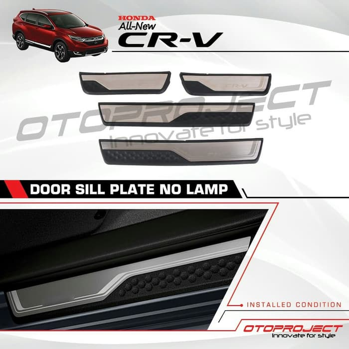 Door SILLPLATE Samping CRV Turbo 2018 Model ORI tanpa Lampu