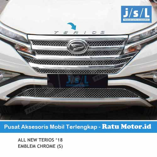 Emblem Tulisan TERIOS All New TERIOS 2018-2019 Chrome (Small)