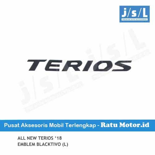 Emblem Tulisan TERIOS All New TERIOS 2018-2019 Blacktivo (Large)