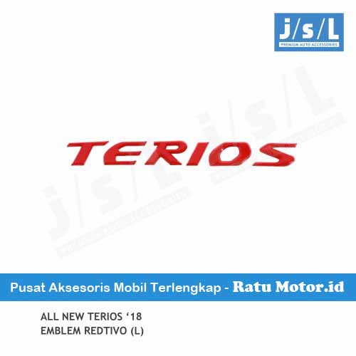 Emblem Tulisan TERIOS All New TERIOS 2018-2019 Redtivo (Large)