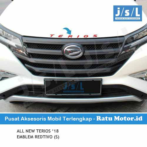 Emblem Tulisan TERIOS All New TERIOS 2018-2019 Redtivo (Small)