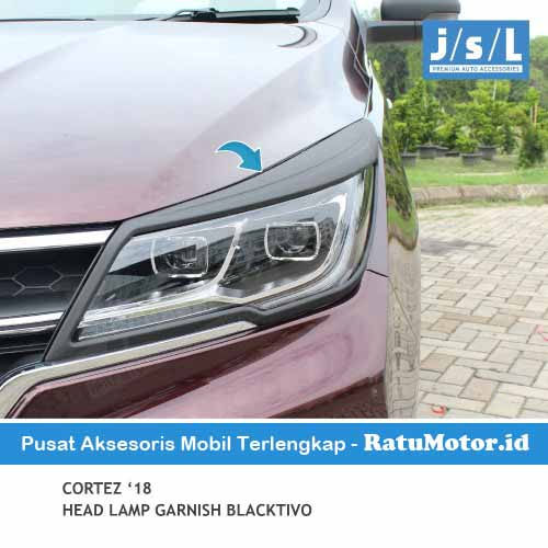 Garnish Headlamp Wuling CORTEZ 2018-2020 Blacktivo