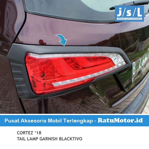 Garnish Stoplamp Wuling CORTEZ 2018-2020 Blacktivo