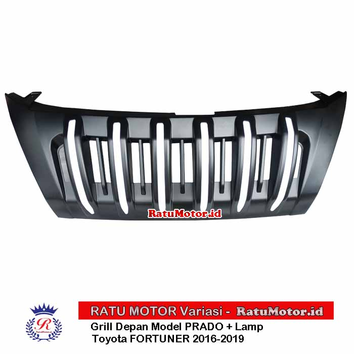 GRILL All New FORTUNER 2016-2019 Model Prado Hitam Doff + List LED