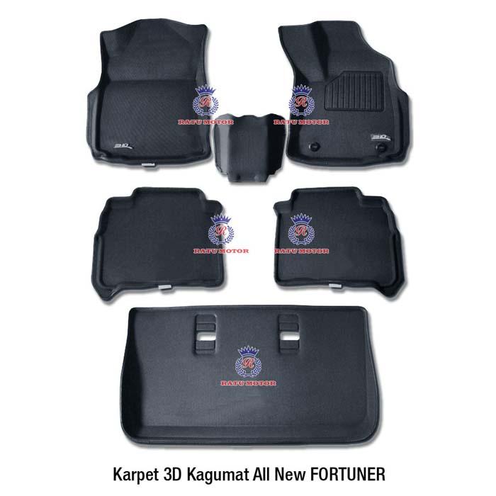 Karpet 3D KAGUMAT All New FORTUNER 2016 Bahan Polyester MAXpider