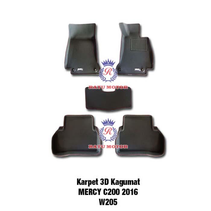 Karpet 3D KAGUMAT Mercy C Class C200 (W205) 2015 Bahan Polyester MAXpider