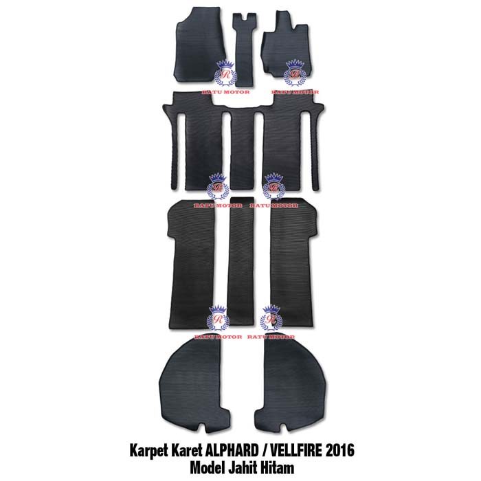 Karpet Karet Jahit All New ALPHARD / VELLFIRE 2016-2020 ATPM Astra Hitam