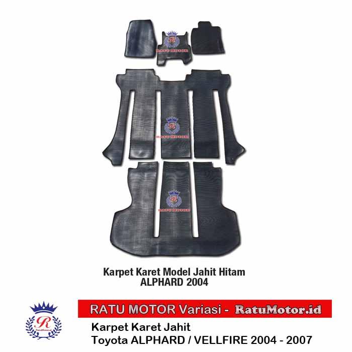 Karpet Karet Jahit ALPHARD / VELLFIRE 2004-2007 Hitam