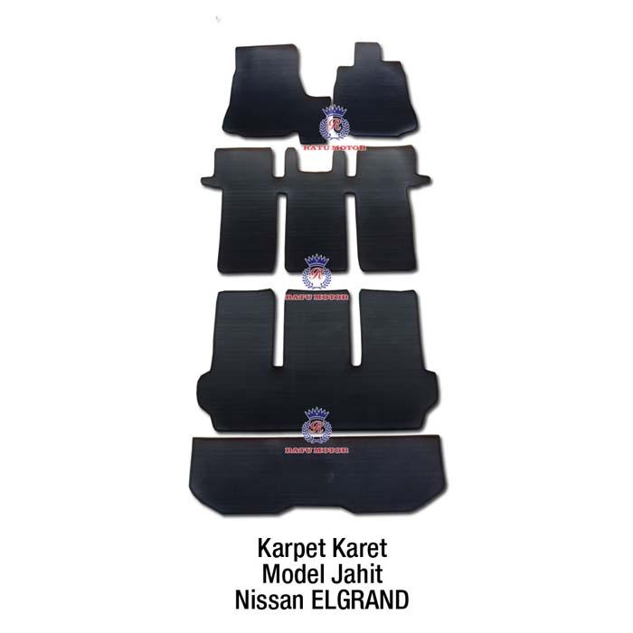Karpet Karet Jahit Nissan ELGRAND 2015-2016 Hitam