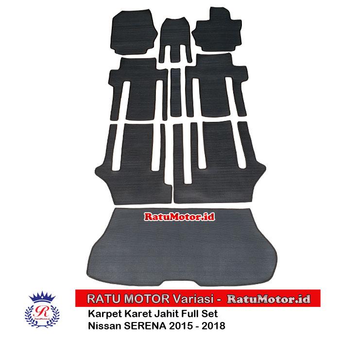 Karpet Karet Jahit SERENA C26 2014-2018 Full Set Hitam
