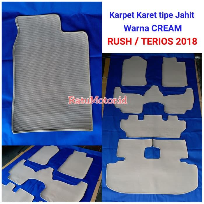 Karpet Karet Jahit TERIOS 2018 Full Set Cream (5 pcs)