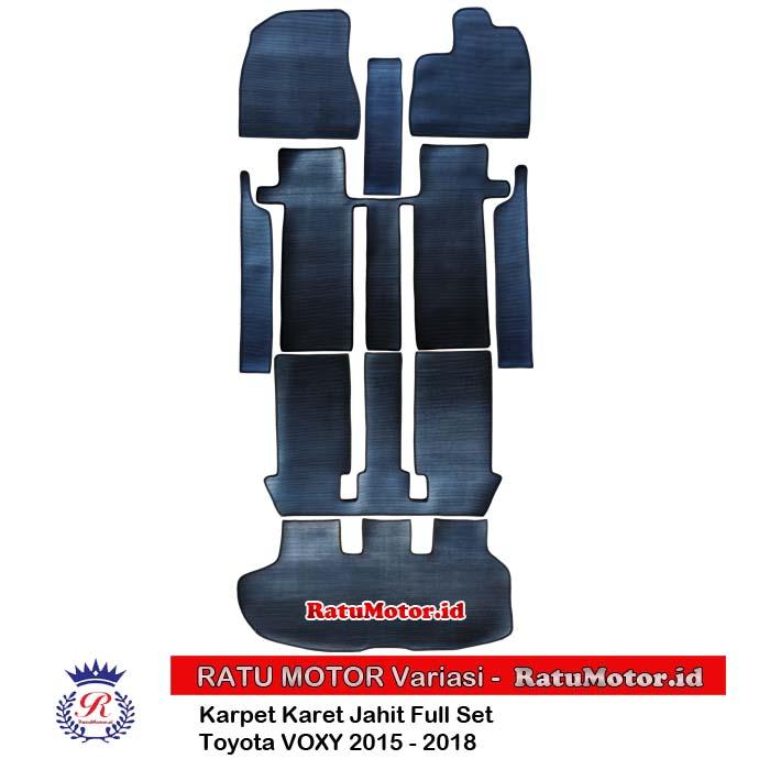 Karpet Karet Jahit Toyota VOXY 2015 - 2018 Full Set Hitam (8 Pcs)