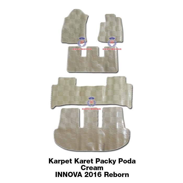 Karpet Karet Packy Poda All New INNOVA 2016 Reborn (Cream, Black, Smoke)