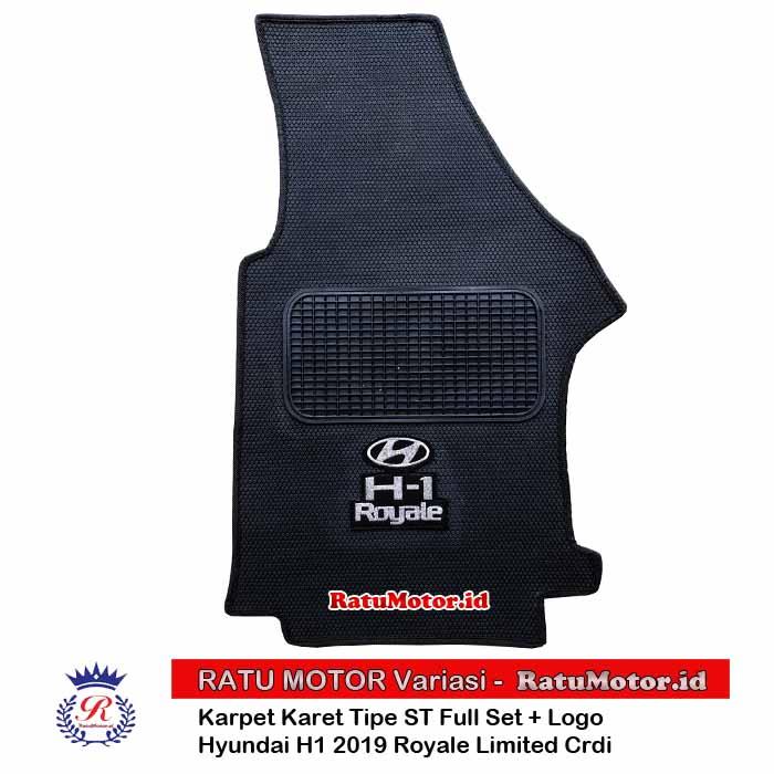 Karpet Karet Tipe ST Hyundai H1 Royale 2019 Limited Crdi Full Set + Logo