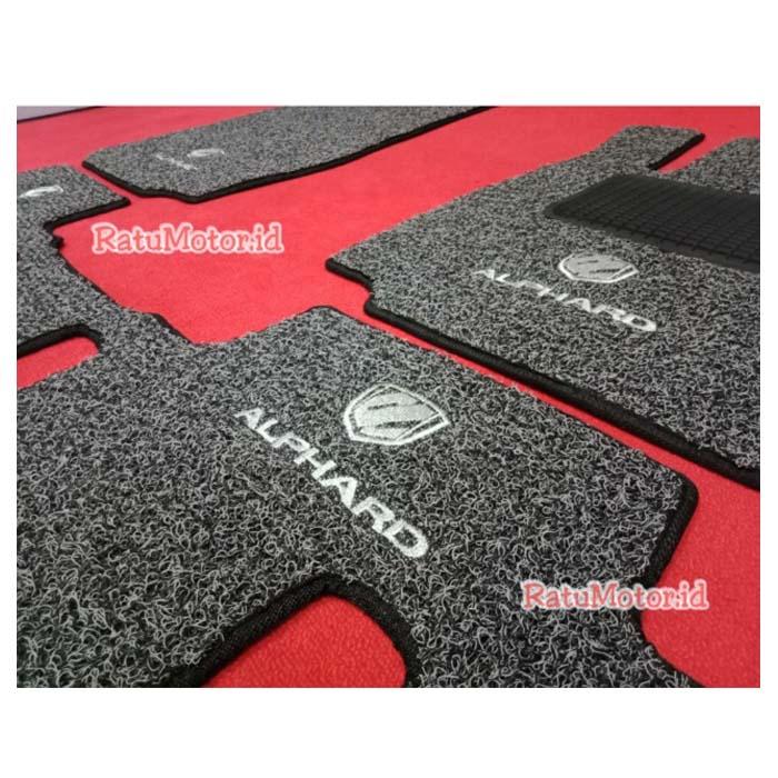 Karpet Keriting Tipe LUXURY For ALPHARD 2016-2019 + Logo & HeelPad