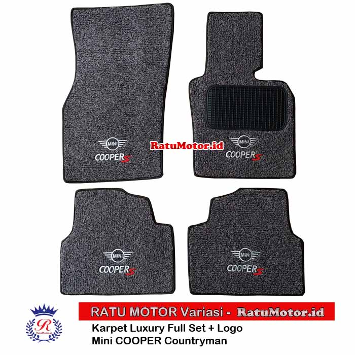 Karpet Keriting Tipe LUXURY For Mini COOPERs Countryman R60 (5 Doors) + LOGO