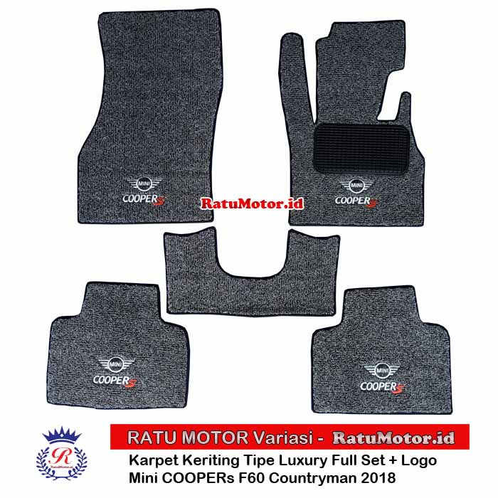 Karpet Keriting Tipe LUXURY Mini COOPERs Countryman F60 2018 (5 Doors) + LOGO