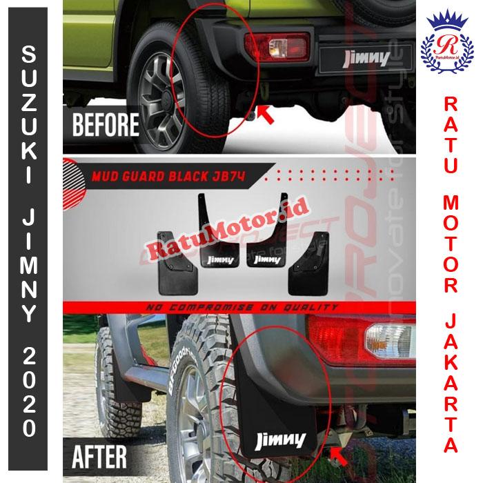 Karpet Lumpur Hitam Suzuki JIMNY 2019 - Mud Guard Black JB74