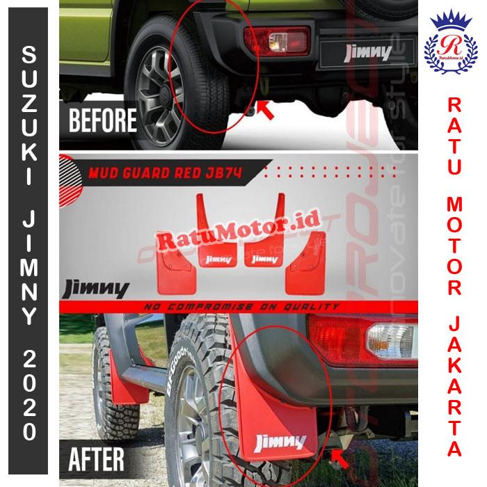 Karpet Lumpur Merah Suzuki JIMNY 2019 - Mud Guard Red JB74