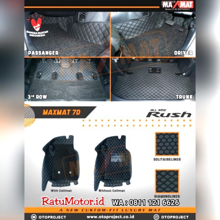 Karpet Mangkok MAXMAT 7D All New RUSH 2019 A/T Full Bagasi - Bukan 5D 3D