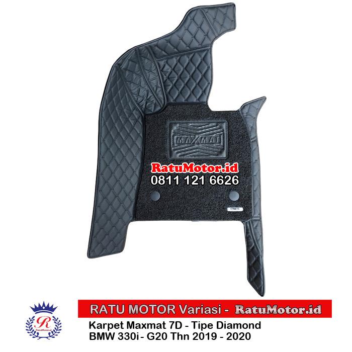 Karpet Mangkok MAXMAT 7D BMW 330i 2020 G20 Full Bagasi - Bukan 5D 3D
